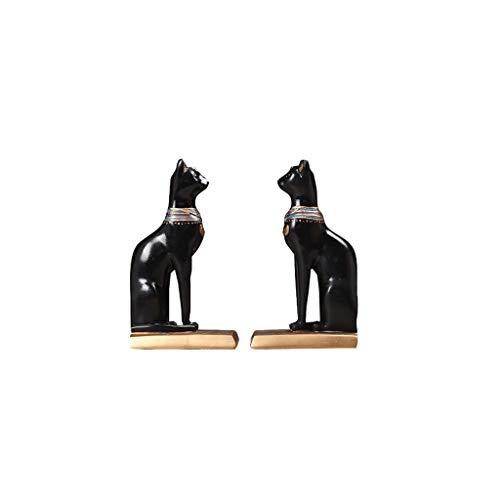 Yinghuawen Kreatives glückliches Ägypten-Katzenbuch durch Tischplattenhandwerk, Studienbüro-Dekorationsverzierungen - neuartige Weise