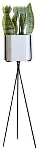 ANXWA Bastidor para Macetas Maceteros Porta Macetas Metal Decorativos/Soporte De Pie/Estante Vintage para Macetas Pedestales Flores Plantas Stand para Macetas,White-H80CM