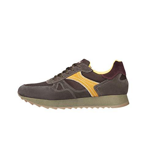 Nero Giardini A901222U Sneakers Uomo in Pelle, Camoscio E Tela - Oliva 44 EU