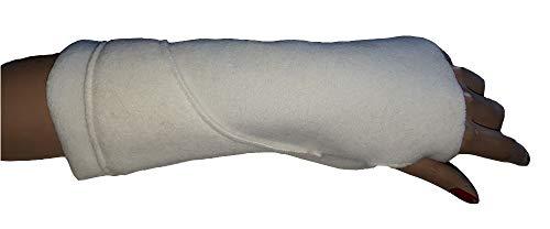 rdb - Manopla de forro polar de La Mongia, color marfil
