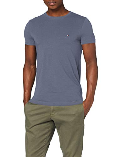 Tommy Hilfiger Herren Stretch Slim Fit Tee Sporthemd, Faded Indigo, S