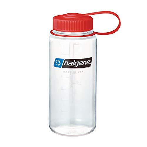 NALGENE ナルゲン 広口 0.5L TRITAN プラスチックボトル 水筒 MADE IN USA(91308 CLEAR)ジャグキャップ登山 サイズ