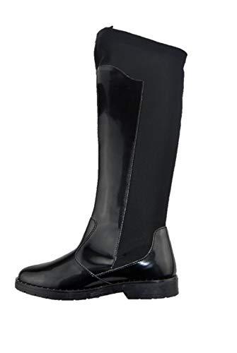 PRIMIGI 2440700 High-Style-Reitstiefel mit elastischem, elastischem schwarzen Mädchen-Lack aus Italien