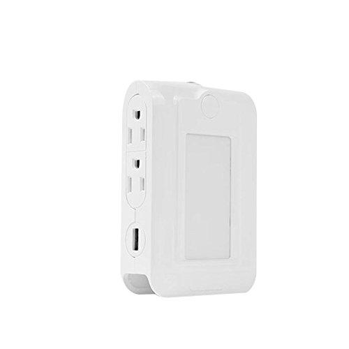 JKL Veilleuse Veilleuses -capteur de contrôle de lumière LED double USB de charge prise de lumière de nuit, étagère de téléphone intelligent, prise en charge rapide de téléphone de soutien, interrupte