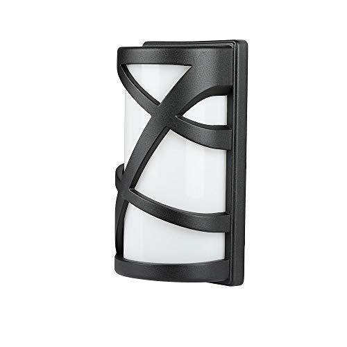 V-TAC SKU.7064 APPLIQUE MURALE IP54 NOIR POUR Ampoule E27 VT-745, Plastique,et autre materiaux, Profondeur : 295 mm