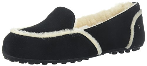 UGG Women's Hailey Slipper, black, 5 M US