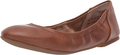 Amazon Essentials Women's Belice Ballet Flat, Tan, 6.5 B US