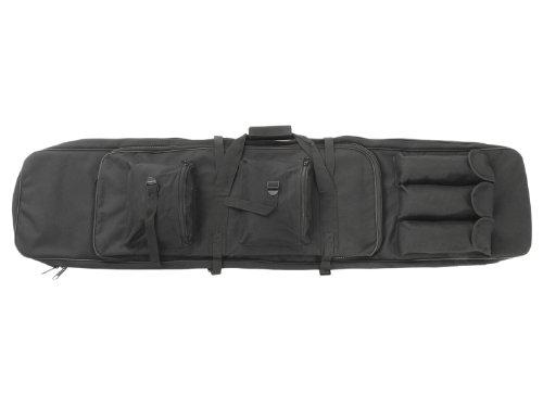 BEGADI Langwaffentasche/Futteral mit Doppelfach & Aussentaschen, extralang, 120 x 30cm, schwarz