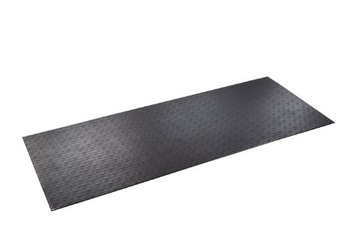 SuperMats High Density Commercial Grade Solid Equipment Mat 15GS Made in U.S.A. for Large Treadmills Ellipticals Rowing Machines Recumbent Bikes and Exercise Equipment (3-Feet x 7.5-Feet) (36 in x 90 in) (91.44 cm x 228.6 cm) , Black