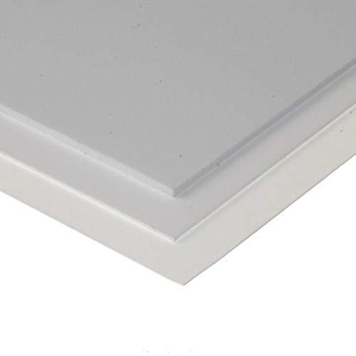 evergreen 9008 - Set di 3 piastre in polistirolo, colore: Bianco