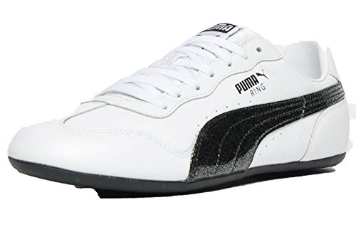 Puma Classic Ring Glitter Mujer Zapatillas Deporte Casuales Blanco Negro 41