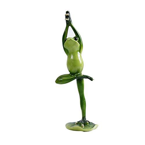Statua di Yoga, Statua di rana 3D, yoga decorazione in resina, ornamento da giardino, decorazione per laghetto, balcone, compleanno, matrimonio, San Valentino, feste, tavolo verde