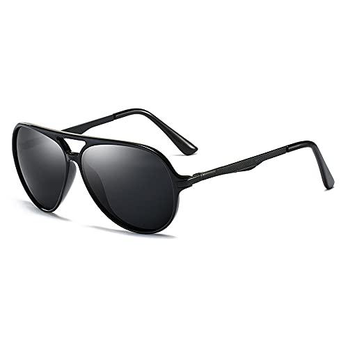 RUNHUIS Gafas de sol polarizadas TR90 para hombre, estilo aviador, clásicas, polarizadas, con protección UV400