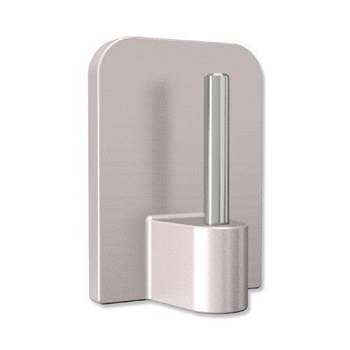 INTERDECO Klebehaken mit Metallstift, selbstklebend in Silbergrau für Vitragestangen (12 Stück)