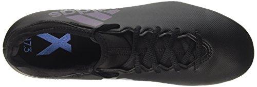 adidas Men's X 17.3 Fg Soccer Shoe, Black Core Black Utility Black, 7.5 UK