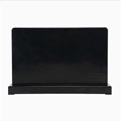 JSY Magnetische opslag magnetisch ijzer steen keukenmes plank keuken IKEA benodigdheden Nordic Taiwan verticale gereedschaphouder Lege messenblokken (Color : Black)