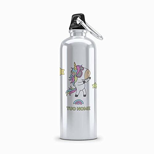 Borraccia Personalizzabile con nome Borracce 500 ML Simpatiche Personalizzabili Con Disegni Divertenti Unicorno Dance