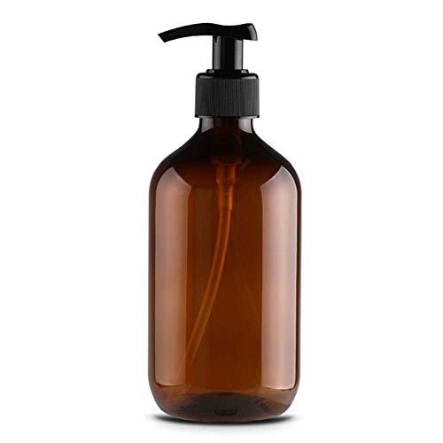 2 frascos vacíos rellenables de 500 ml con bomba dispensadora de líquidos para maquillaje, aceites esenciales, lociones, champús, jabón de manos, recipiente de viaje