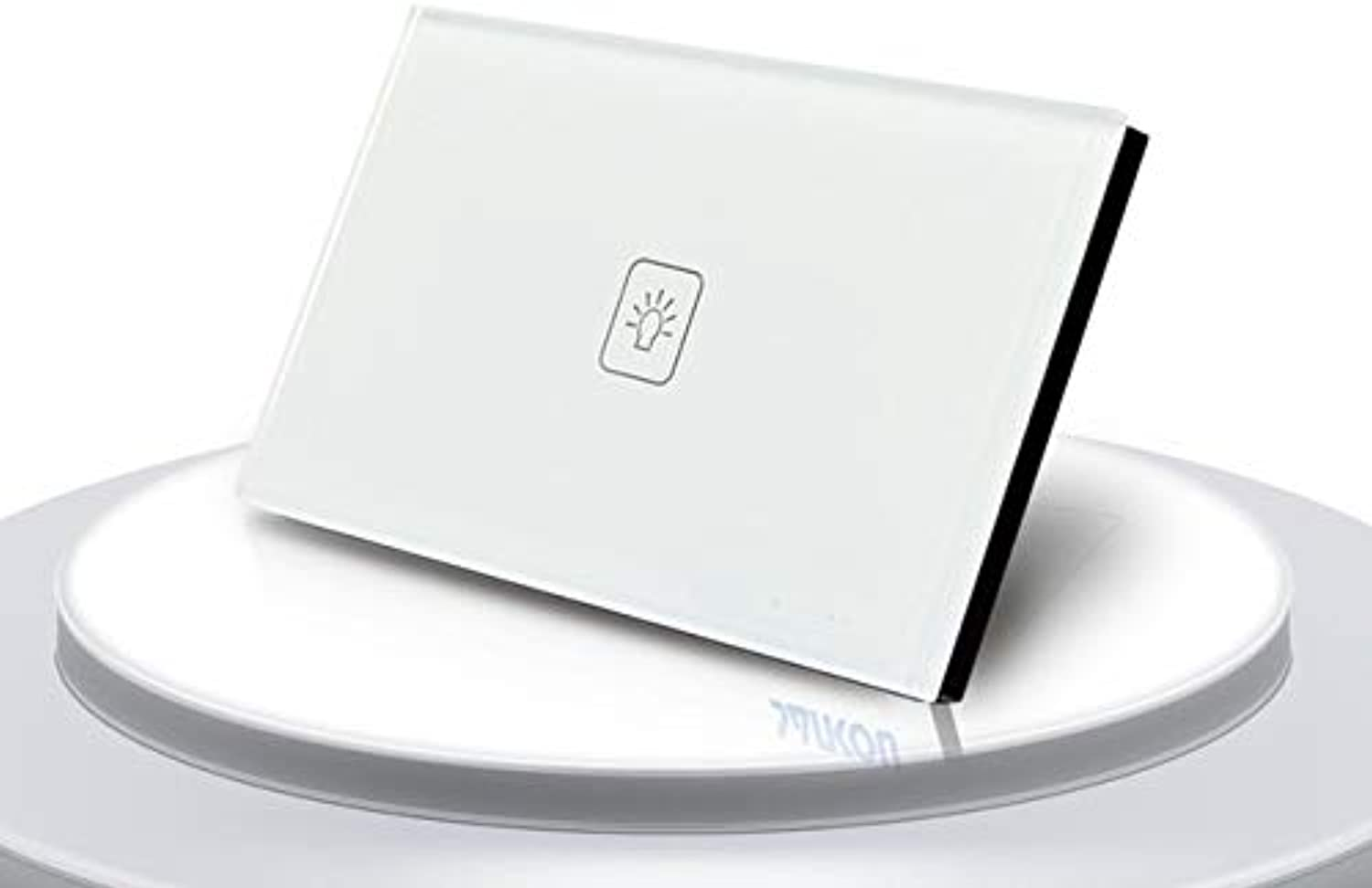 Wall Switch Touch Switch 1 Gang 2 Way White Crystal Glass Panel,US Standard Light Switch, Wall Socket for lamp  (color  White 1 Gang 2 Way)