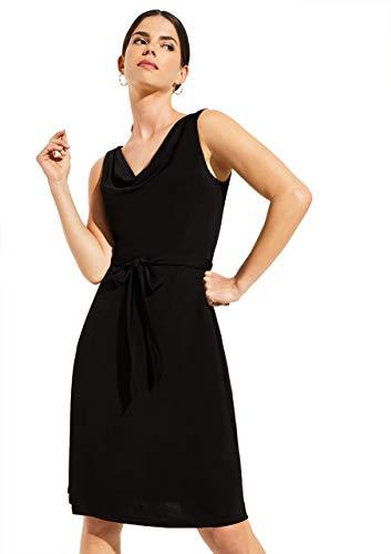 COMMA 81.004.82.5470 Kleid, Damen, Schwarz 42 EU