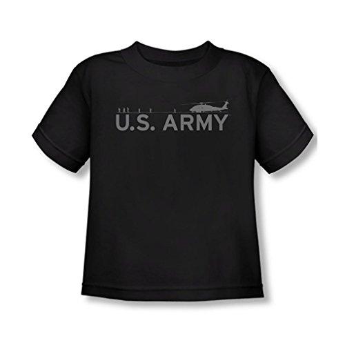 Army - - T-shirt d'hélicoptère enfant, Noir - Noir, 2T