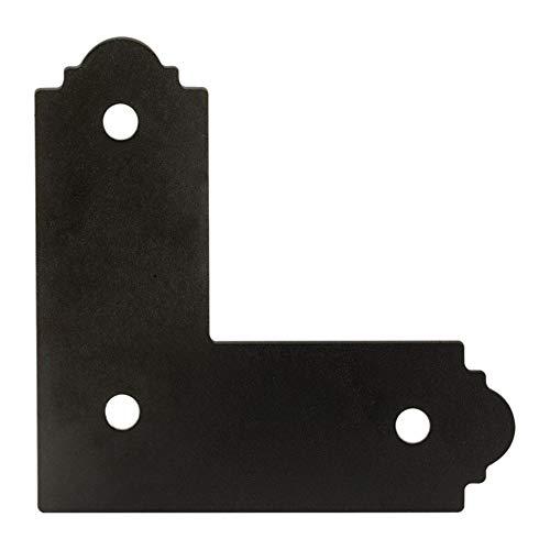 Simpson Strong Tie exterior acentos apl44-x 4-zmax galvanizado acero negro correa de rayones soporte de l (1unidad), 4'x 4'