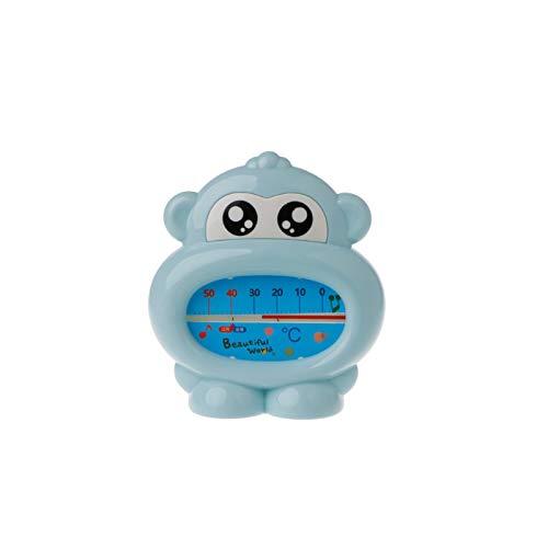 Safe-O-Kid-Pack of 1, Monkey Shaped-Sensitive Bath-Tub Thermometer for Kids, Blue