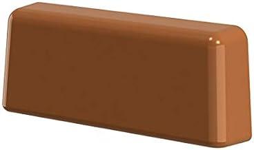 B-H Standaard watersleufdoppen, voor sleuffrezen van 20-34 x 5 mm, 25 stuks 36,5 x 14 x 7,0 mm Braun Ral 8003