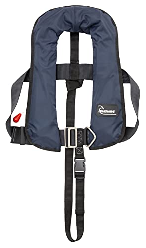 Bluewave Navy Kids 150N Automatic Lifejacket with Harness