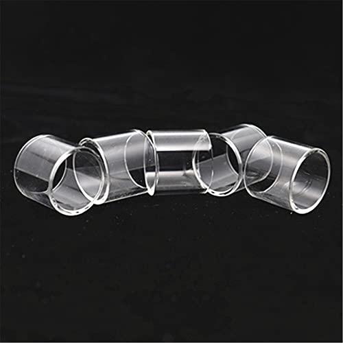 Pang-qingtian 5pcs Burbuja Tazas de Vidrio Rectas adaptadas para Ares MTL TPD Edición/Ajuste para Ares 2 D22 / Fit para Ares 2 D24 Tube de Vidrio (Color : Straight, tamaño : Fit for Ares MTL RTA 5ml)