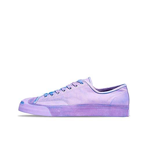 Converse x Jack Purcell OX Canvas Schuhe farbenfrohe Herren Low Top-Sneaker Freizeit-Schuhe Skater-Schuhe Lila, Größe:44 1/2