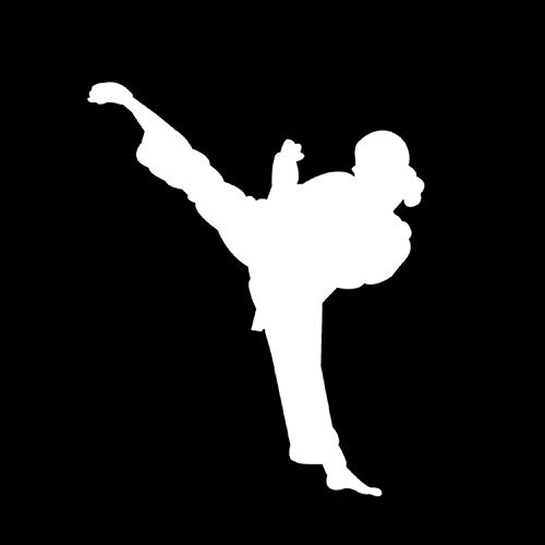 Appiu Bumper Legendary Weiblich Kung Fu Master Karate Fenster Auto Aufkleber Deko Autoaufkleber, weiß