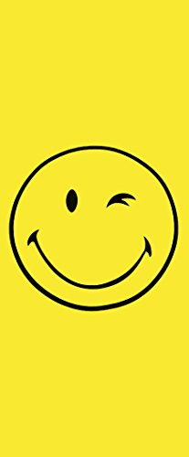 Badetuch Smiley/Strandtuch/Handtuch/Strandlaken - Größe: ca.92 x 187 cm - Farbe: Gelb Smiley