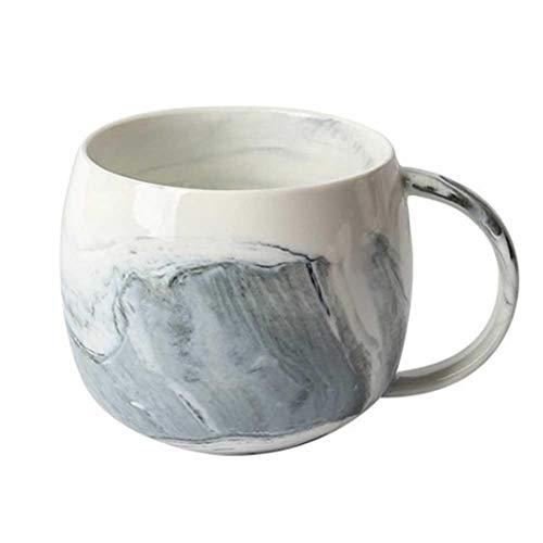 iBaste Keramiktasse Kaffeetasse 400ML Jumbotasse Milchbecher Marmor Kaffeebecher Teetasse