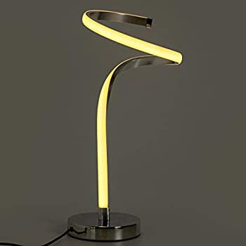 """Remibel Modern Designer Spiral Table Lamp 12W Decorative Dimmable Beside Desk Lamp with Sensitive Touch Controller Adjustable Brightness & Color Temperature,18"""" Tall Light for Daily Use & Decoration"""