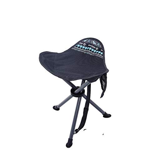 Chaises pliantes Tabouret Pliant portatif, métal, épais, Pliant, portative extérieure, pêche, Escalade, Poids résistant 100Kg (Color : Green)