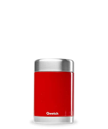 QWETCH Thermos Isotherme Rouge Brillant 500 ML