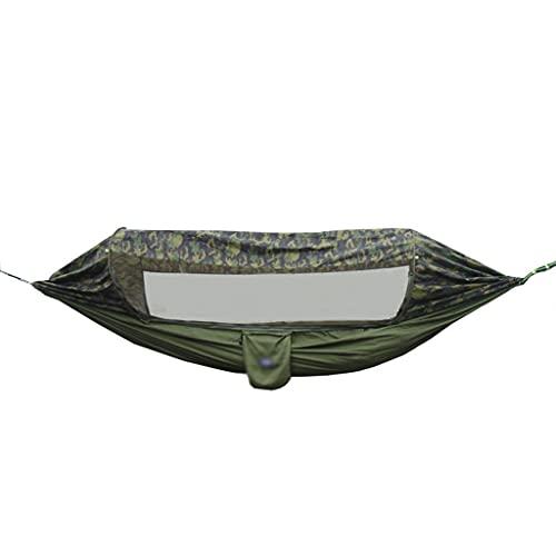 Camping Hammocks Hamaca para Acampar con Red Hamaca Portátil para Acampar Al Aire Libre para Interiores Exteriores Senderismo Viajes Patio Trasero Playa Etc (Color : Green, Size : 200kg)
