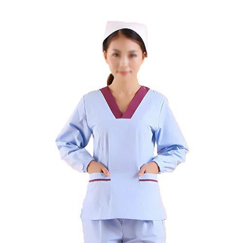 Ärzte Therapeut Damen/Herren V-Neck Scrub Tops Medizinisches Peelingset Damen Krankenschwestern im Gesundheitswesen Medizinische Krankenpflege-Arbeitskleidung für chirurgische,Medizinisch,Menm