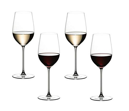 Riedel Veritas Riesling/Zinfandel Rot oder Weißweinglas 4er Set (2x 6449/15) Vorteilsset