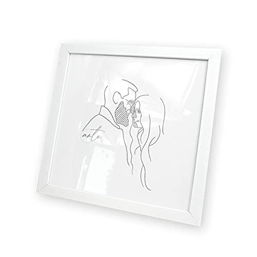 Artepoint Kunststoffrahmen Bilderrahmen quadratisch 10x10 15x15 20x20 25x25 30x30 40x40 50x50 Rahmen zum Aufhängen Farbe Weiß - Format 15x15