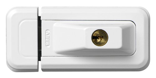 ABUS Fenster-Zusatzsicherung 3010 - Sicherheitsschloss für Fenster und Türen, verschiedenschließend - Sicherheitslevel 6 - 02073 - weiß