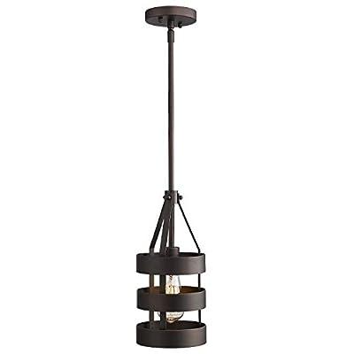 Emliviar 1-Light Mini Pendant Light, Industrial Hanging Light Fixture for Kitchen Dining Room, Oil Rubbed Bronze Finish, 2A1-D1 ORB