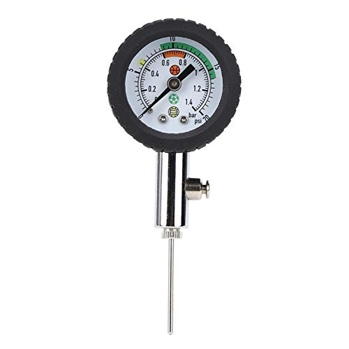Roberee Medidor de presión de Bola: medidor de presión de Puntero de fútbol portátil, Mesa de medición de presión Interior para Baloncesto, Voleibol, Pelota de fútbol