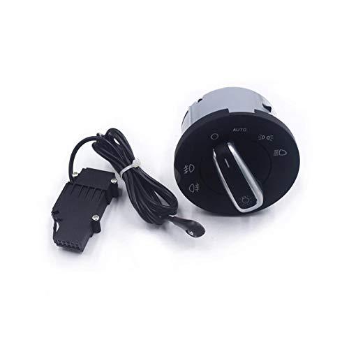 YANGQING MIQING Ajuste para Skoda Octavia II 2004 2005 2006 2007 2008 2009 2010 2011 2013 lámpara antiniebla Interruptor de Faro Sensor Chrome 1Z0941431k (Color : Set)