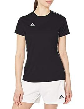 adidas Women s Core 18 AEROREADY Primegreen Regular Fit Soccer Short Sleeve Jersey Black/White X-Large