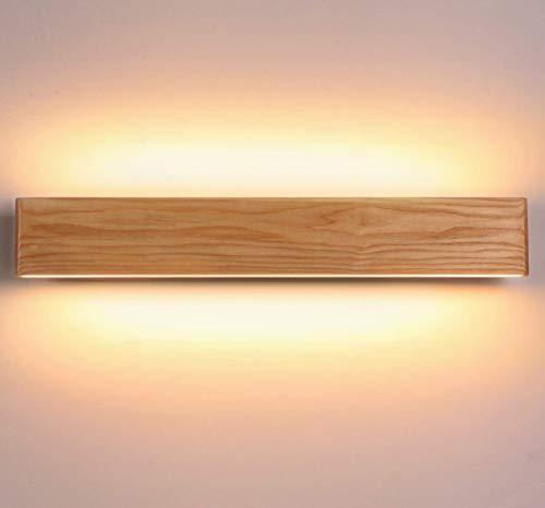 Martll Wandleuchte Innen Holz LED Wandlampe Wandbeleuchtung für Wohnzimmer Schlafzimmer Korridor Treppe Licht Lampe Warmweiß Nachtlicht Innenbeleuchtung (52cm)