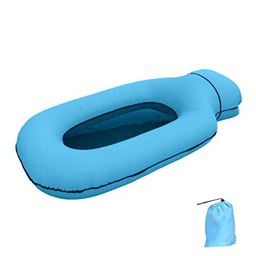 Tumbona inflable flotante, cama inflable plegable, cama de playa, tumbona multifunción para piscina, hamaca flotante portátil, para piscina