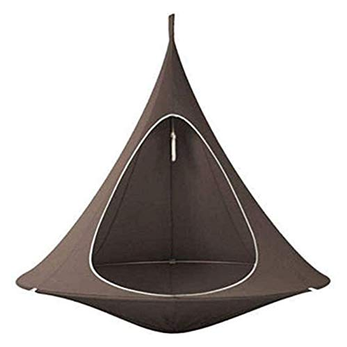 WERTYG Kids Conical Hammock Chair, Folding Camping Tent, Tree Hanging Silkworm Cocoon Indoor Outdoor Waterproof Swing Chair Garden Bed,Green ( Color : A )