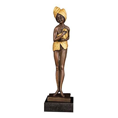 wksee Statuen Dekofigur Statuen Und Skulpturen Skulptur Bronze Nackt Statue Frau Figur Kunsthaus Dekoration